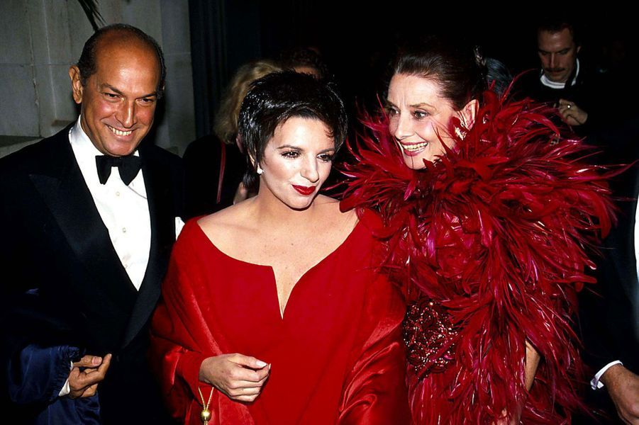 Avec Audrey Hepburn et Liza Minelli