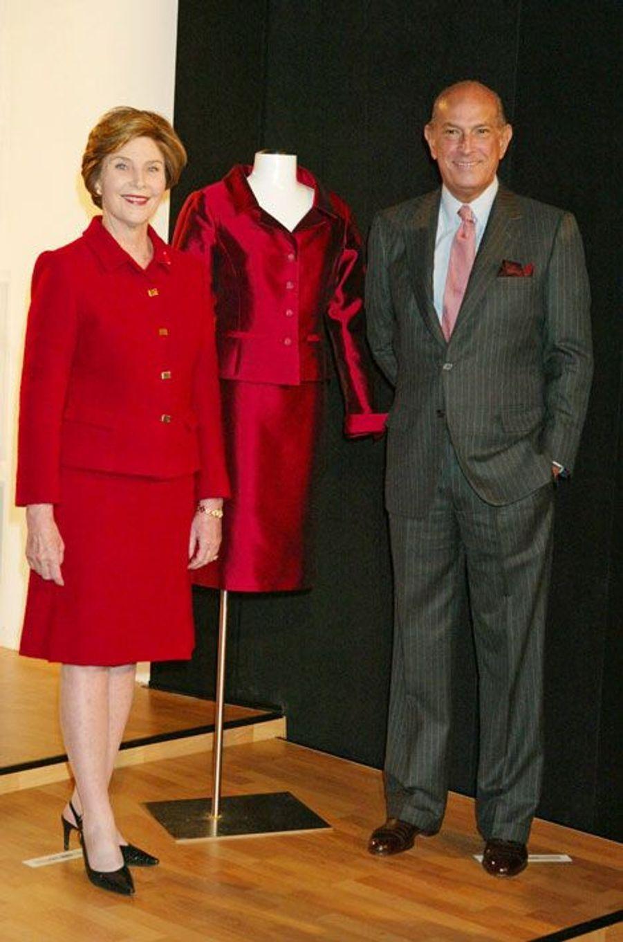 Avec Laura Bush