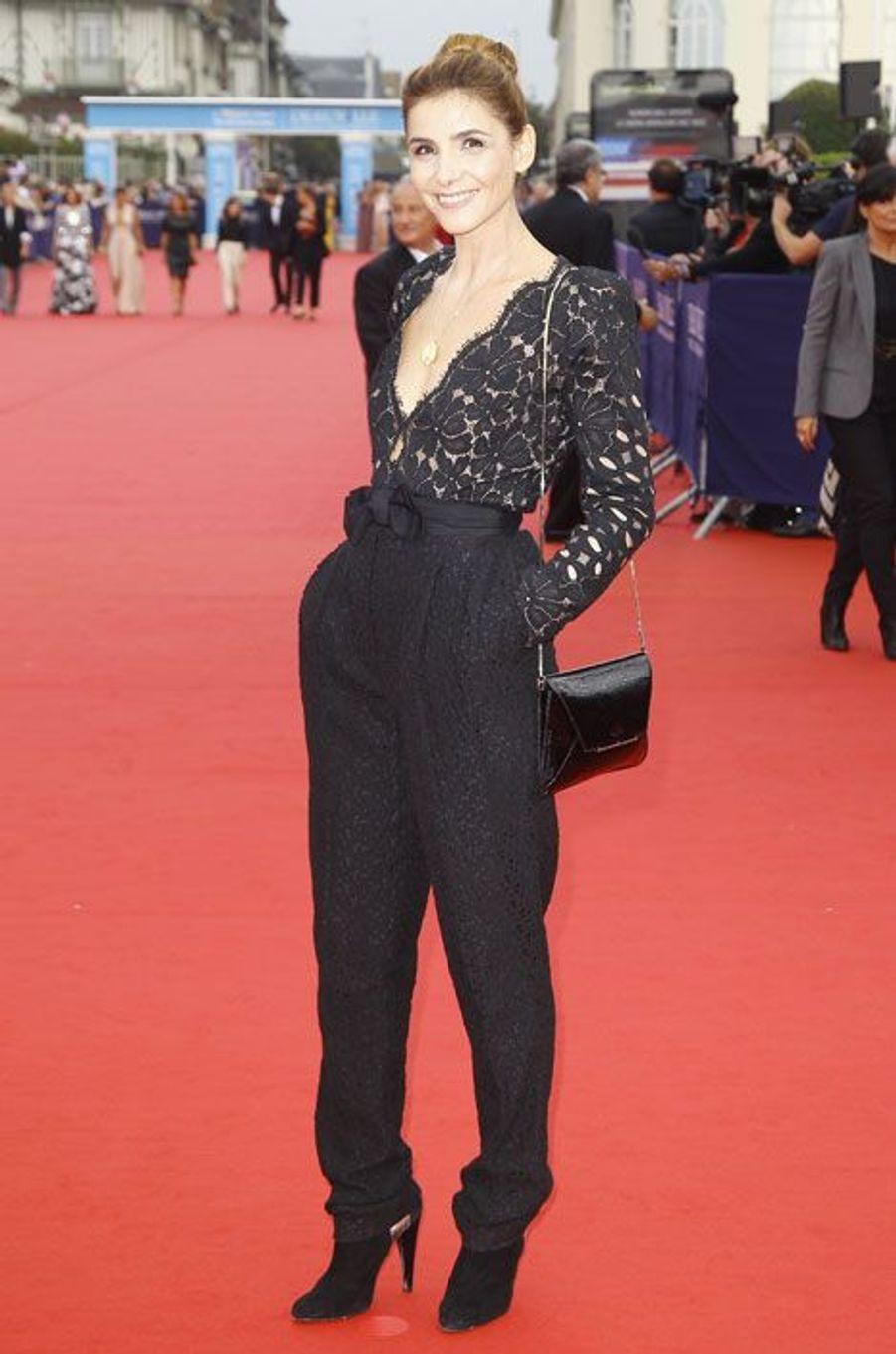 La transparence : Clotilde Courau en Lanvin, au festival du cinéma américain de Deauville, le 5 septembre 2014