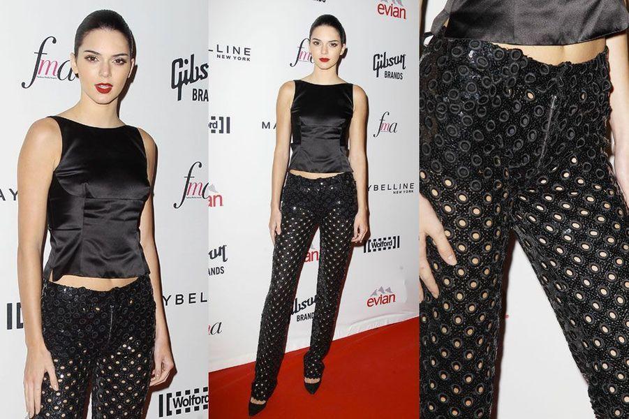 La transparence : le mannequin Kendall Jenner lors de la soirée Harper's Bazaar ICONS, le 5 septembre 2014