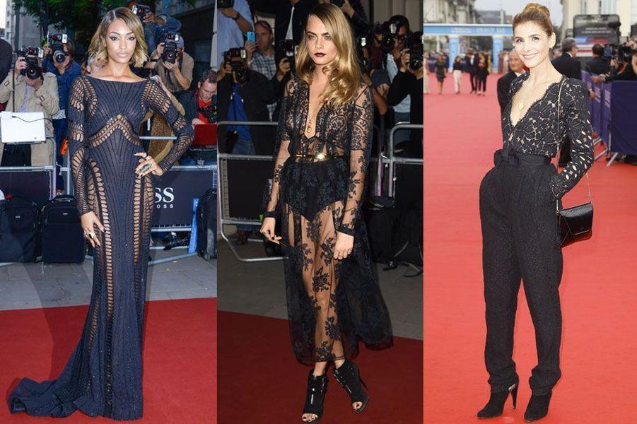 Revue de looks de la semaine : la transparence à l'honneur sur les tapis rouges