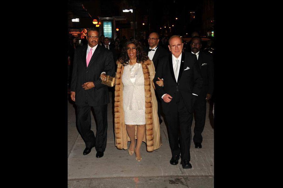 Aretha Franklin et Clive Davis