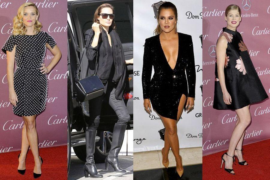 Reese Witherspoon, Angelina Jolie, Khloe Kardashian, Rosamund Pike : tous les looks de la semaine du 28 décembre 2014 au 4 janvier 2015