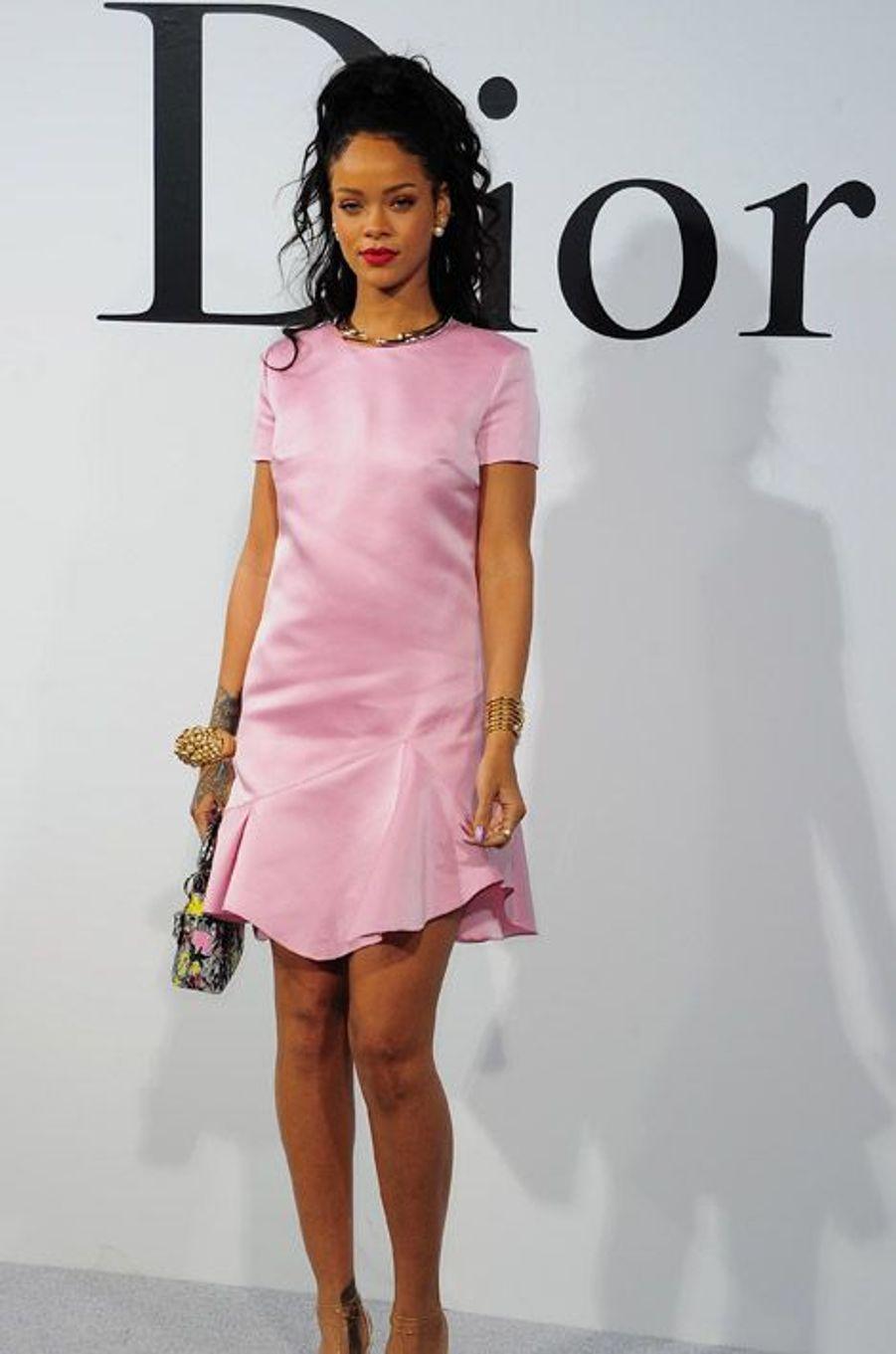 En Dior lors du défilé Dior Cruise à New York, le 7 mai 2014
