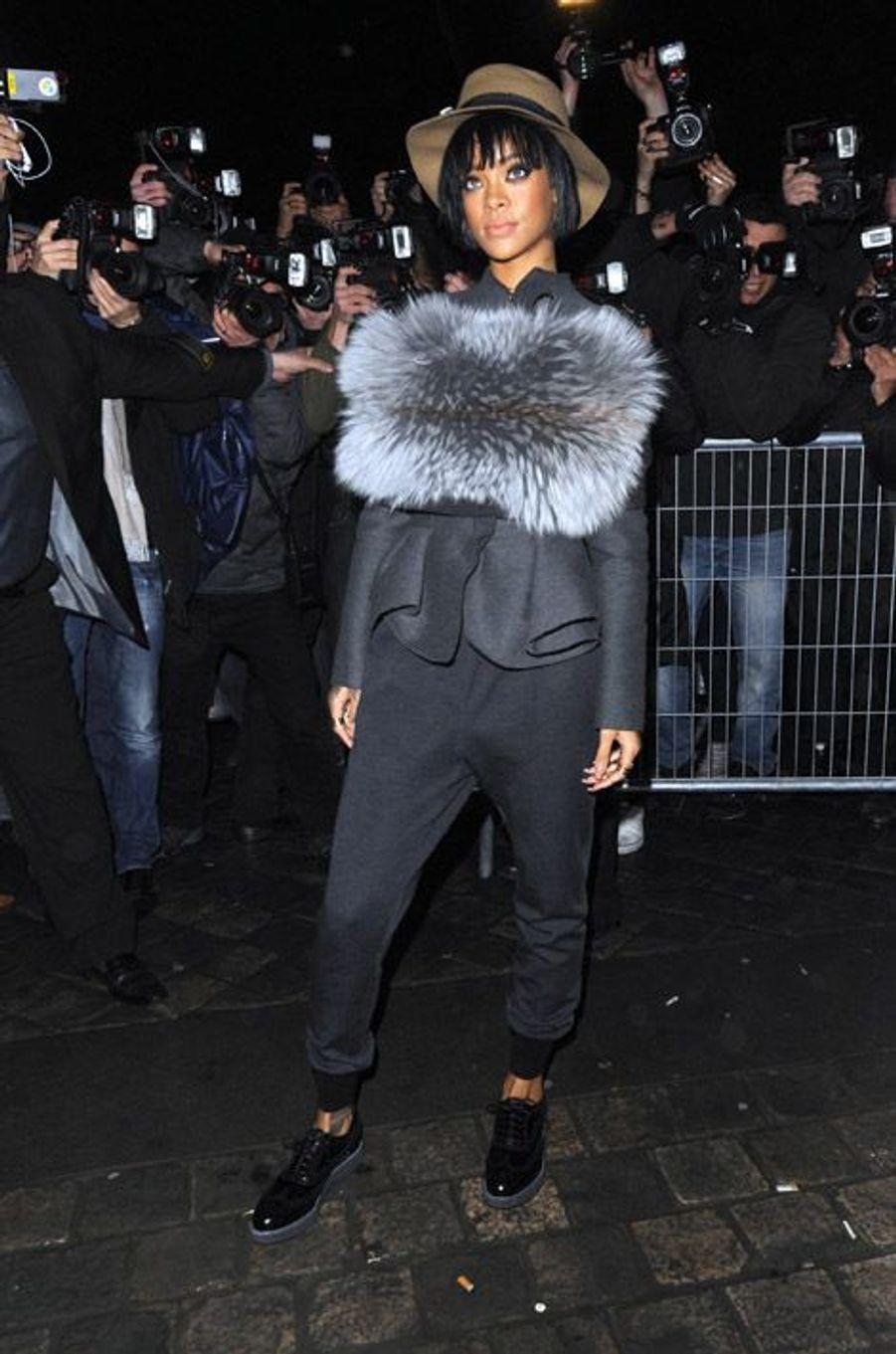 En Lanvin au défilé de la marque à Paris, le 27 février 2014