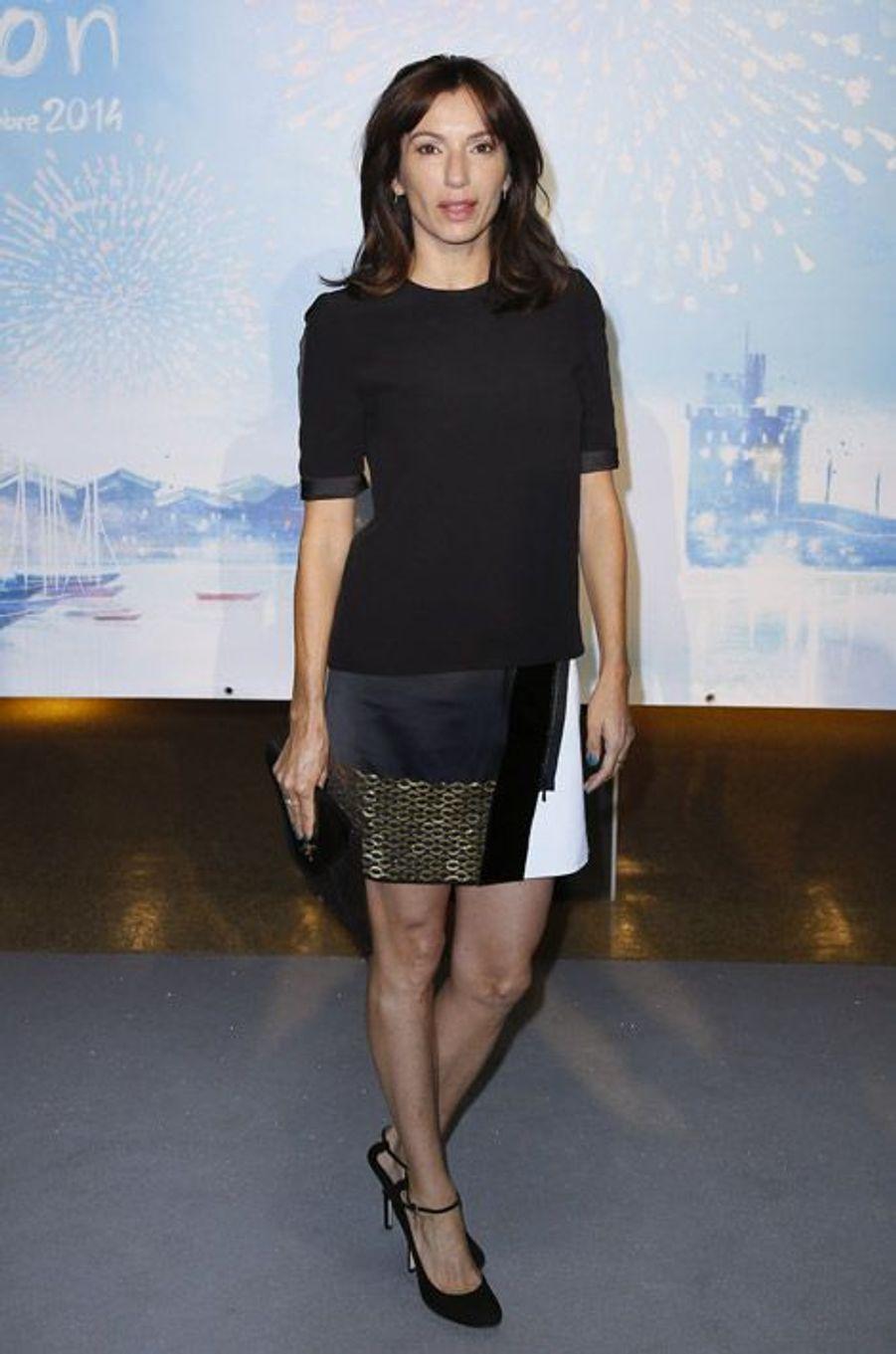 Aure Atika lors de la cérémonie de clôture du festival TV de La Rochelle, le 14 septembre 2014