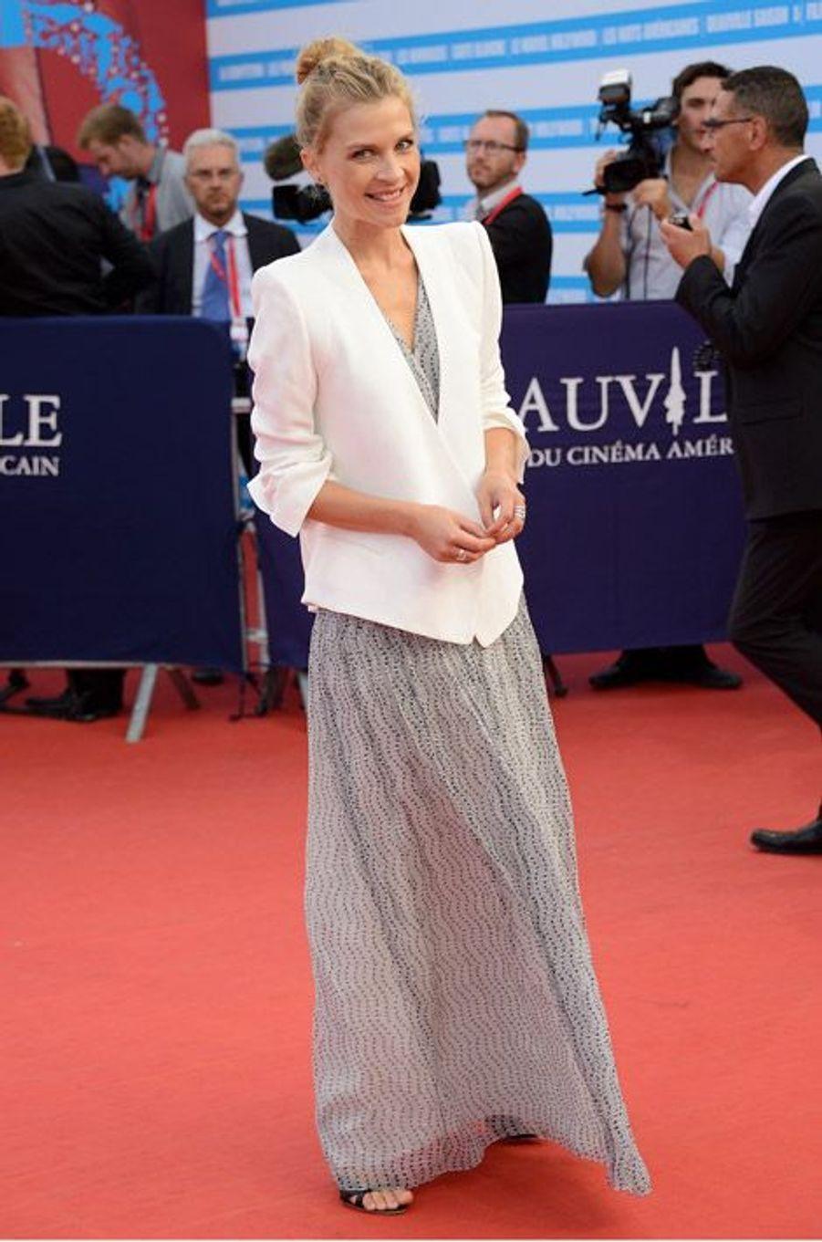 Clémence Poésy lors de la cérémonie de clôture du festival du cinéma américain de Deauville, le 13 septembre 2014
