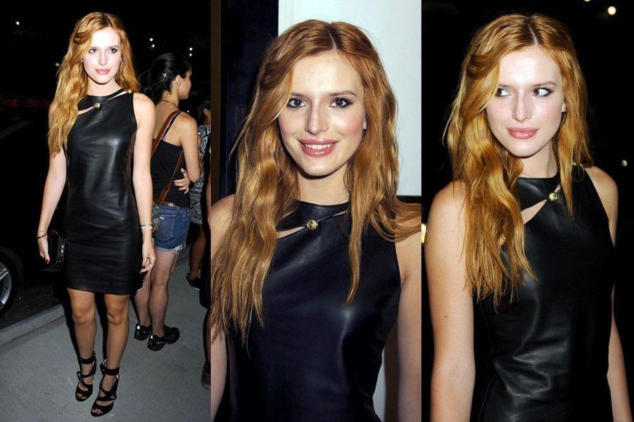 L'actrice américaine Bella Thorne arrive au défilé Versus Versace le 7 septembre 2014 à New York