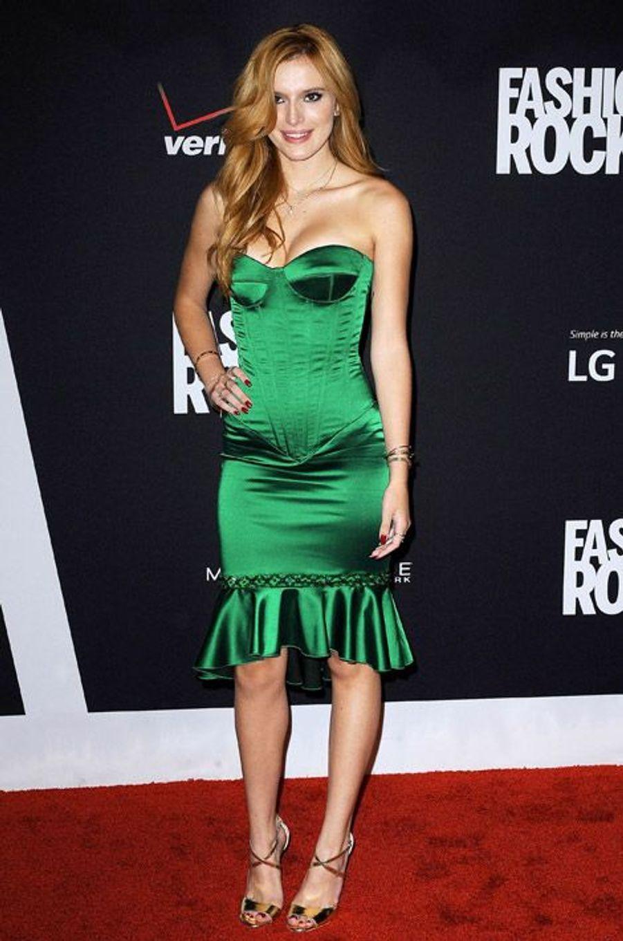 L'actrice américaine Bella Thorne lors de la soirée Fashion Rocks, à New York, le 9 septembre 2014