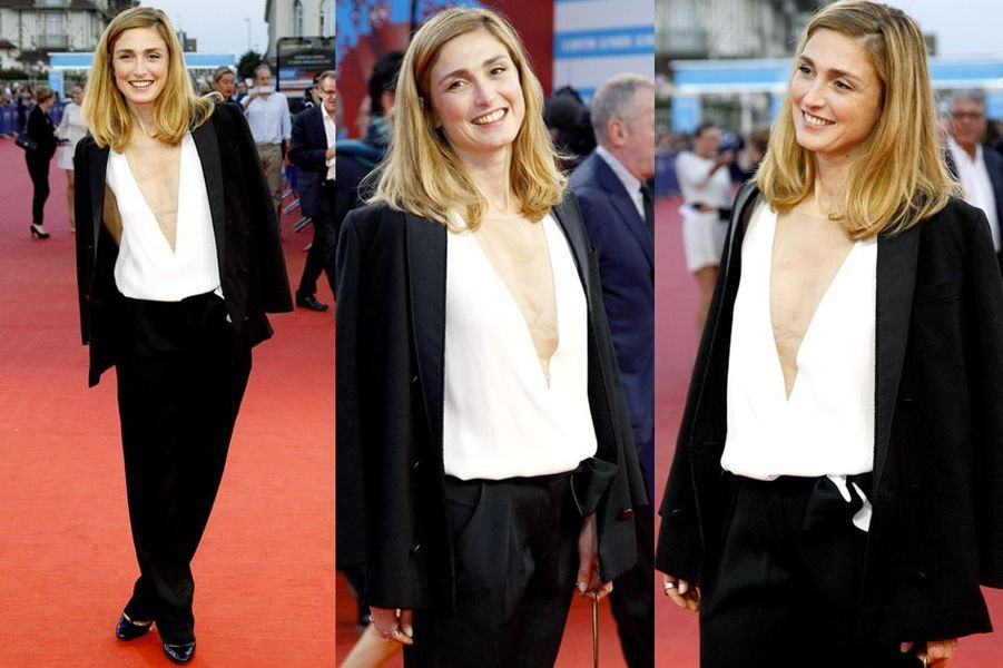 L'actrice Julie Gayet assiste à la projection du film Get On Up au festival de Deauville, le 12 septembre 2014