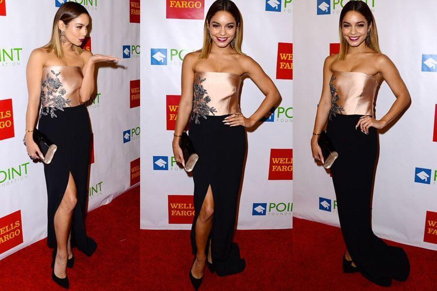 La chanteuse américaine Vanessa Hudgens à un gala de charité en Californie, le 13 septembre 2013