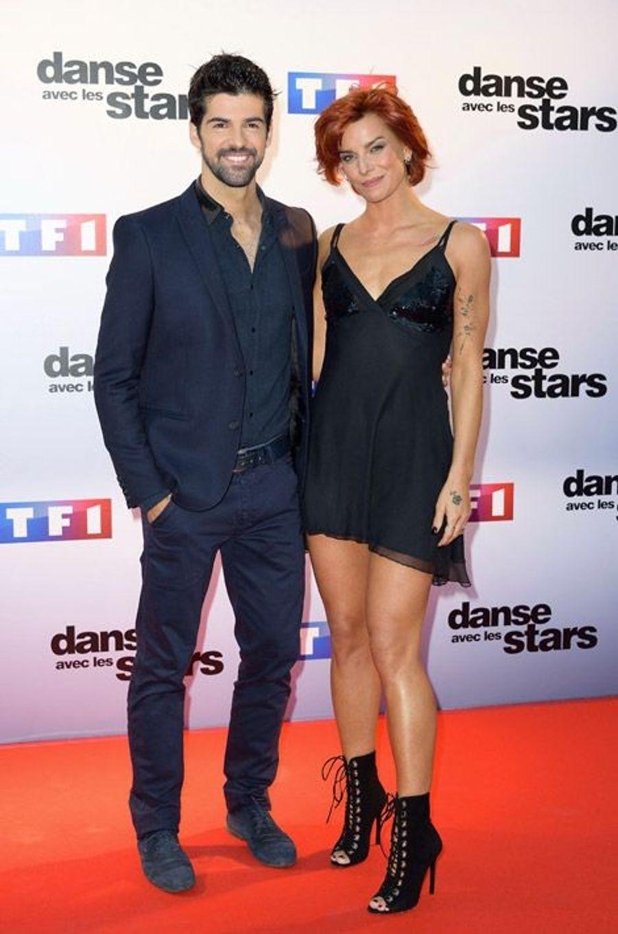 La danseuse Fauve Hautot lors de la conférence de presse de Danse avec les stars 5, le 10 septembre 2014 à Paris