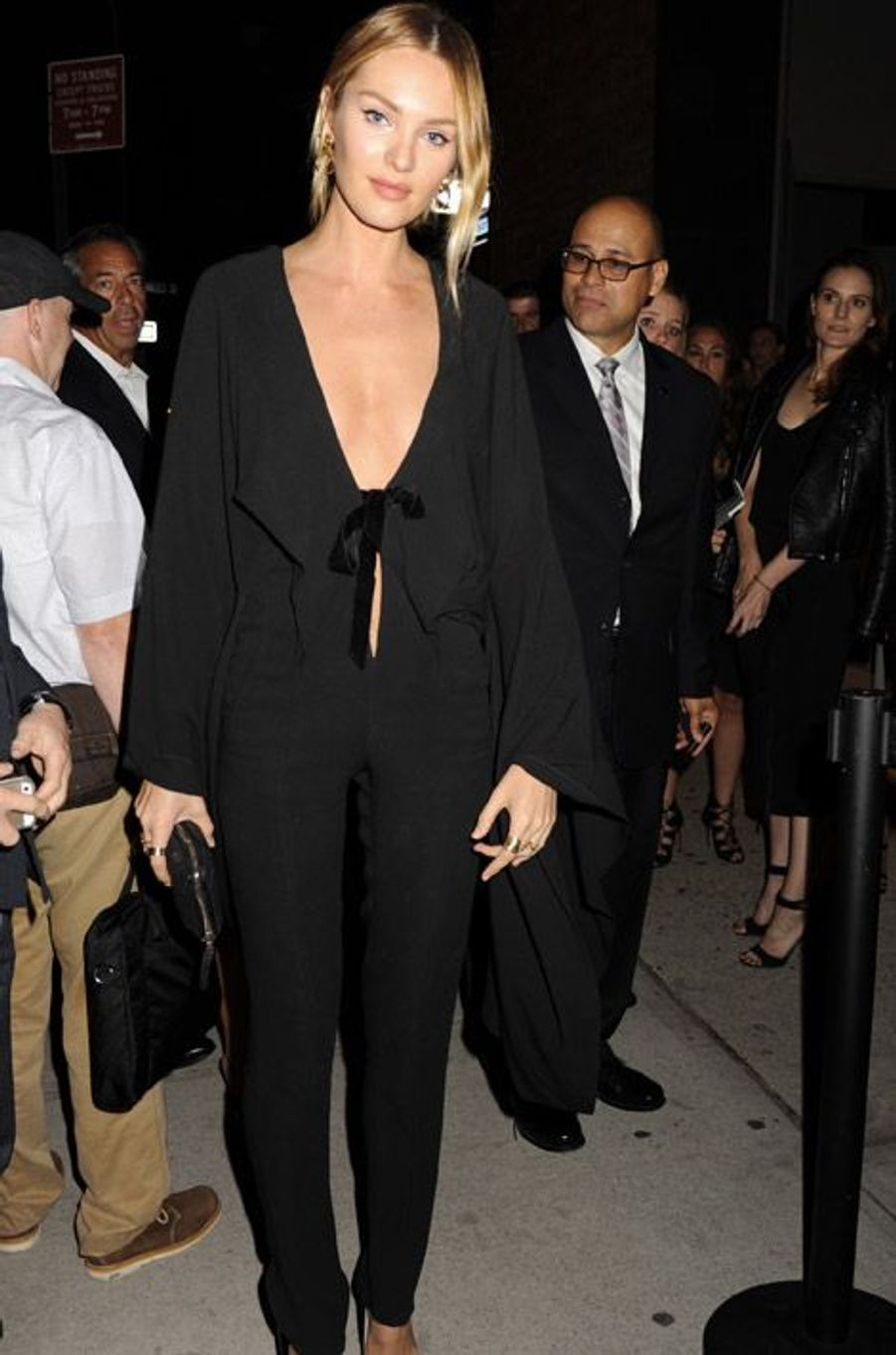 Le mannequin Candice Swanepoel, lors de la soirée organisée pour la sortie du livre Angels du photographe Russell James, le 10 septembre 2014 à N...