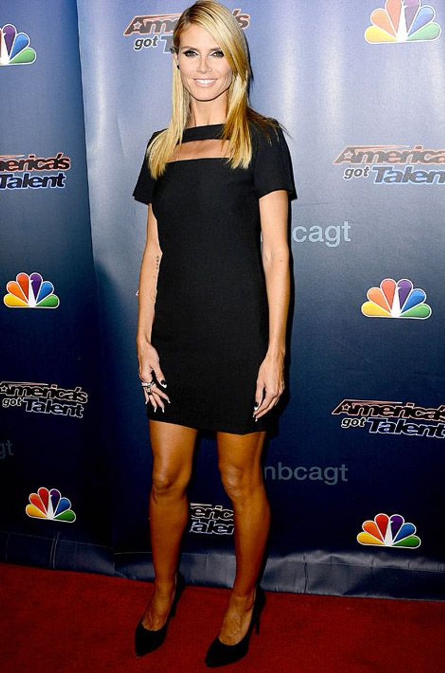 Le top Heidi Klum pour l'émission America's Got Talent à New York, le 10 septembre 2014
