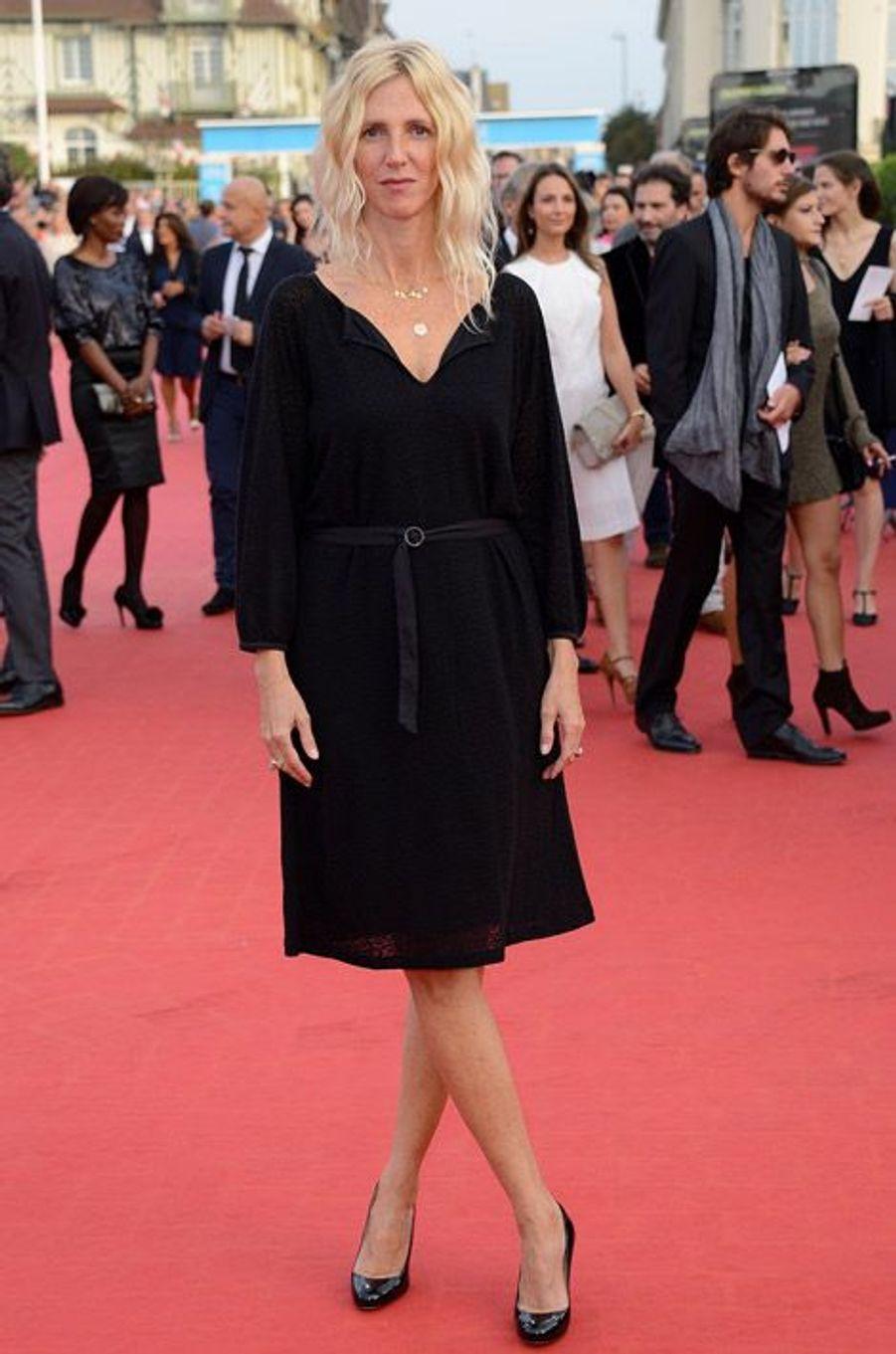 Sandrine Kiberlain lors de la cérémonie de clôture du festival du cinéma américain de Deauville, le 13 septembre 2014