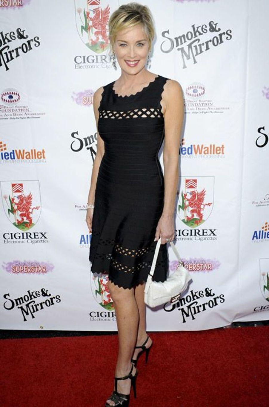 Sharon Stone lors d'une soirée de charité à Beverly Hills, le 13 septembre 2014