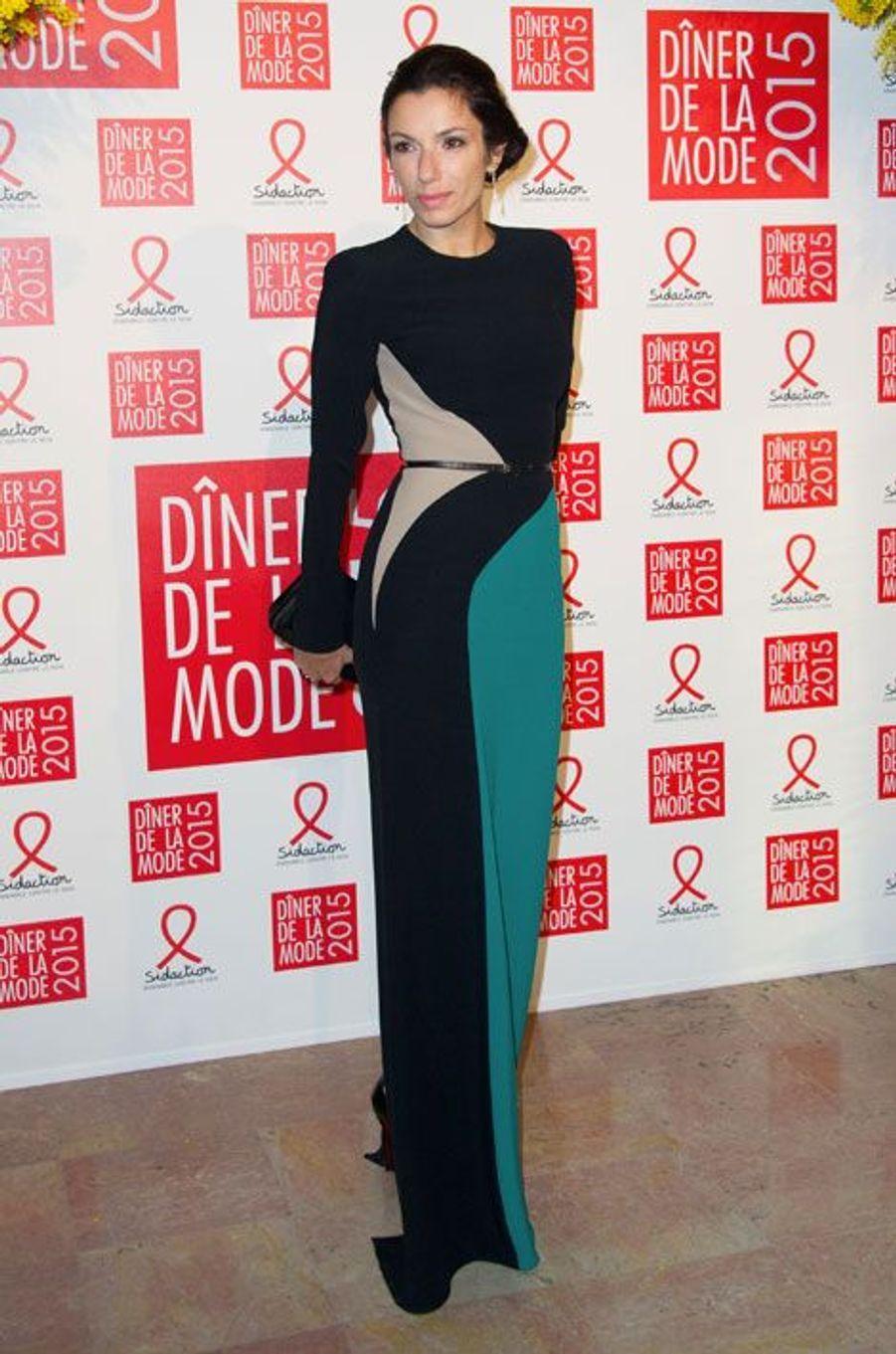 Aure Atika au dîner de la mode du Sidaction, le 29 janvier 2015 à Paris