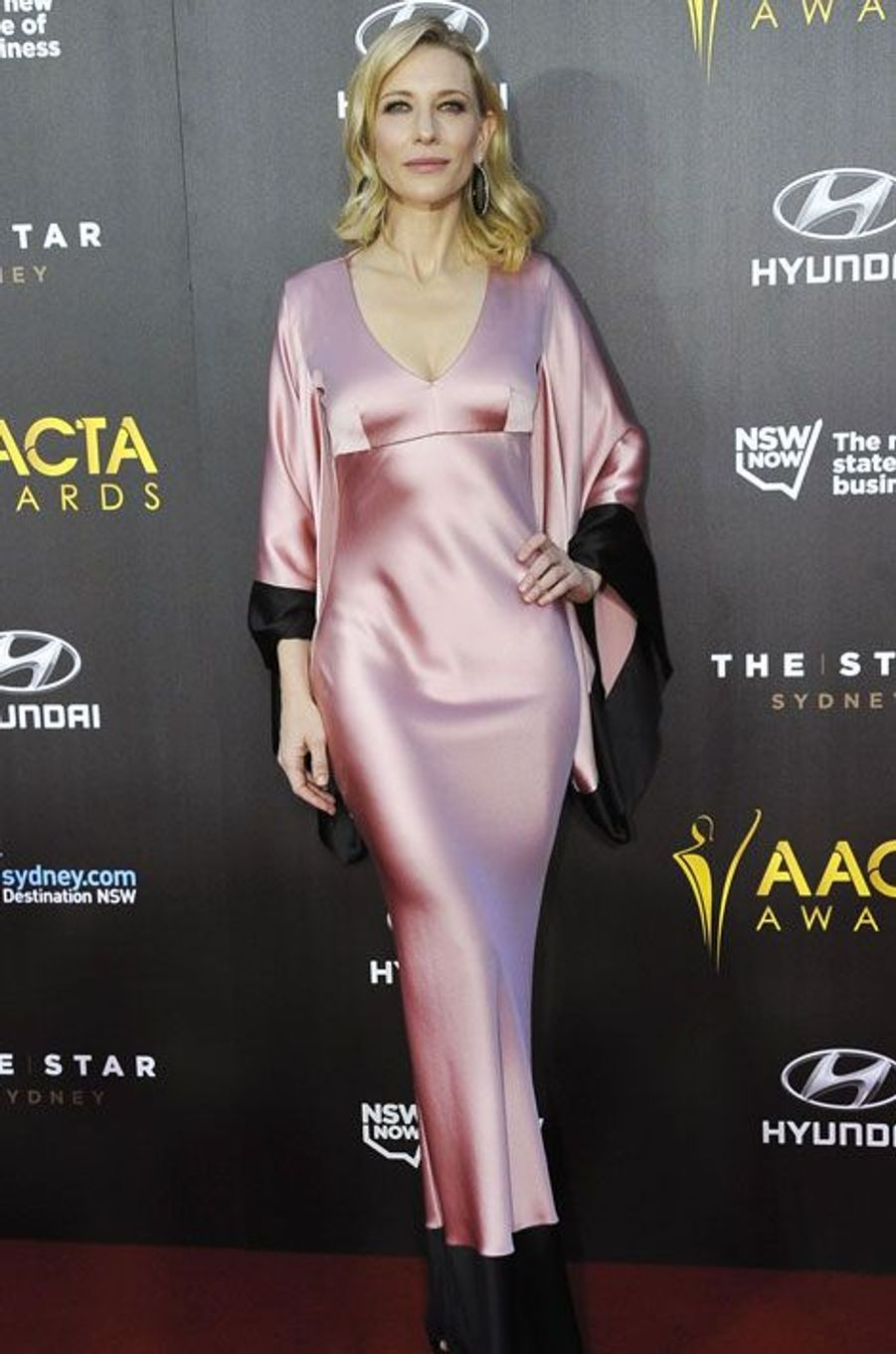 Cate Blanchett en Alexander McQueen lors du gala AACTA Awards Ceremony à Sydney, le 29 janvier 2015