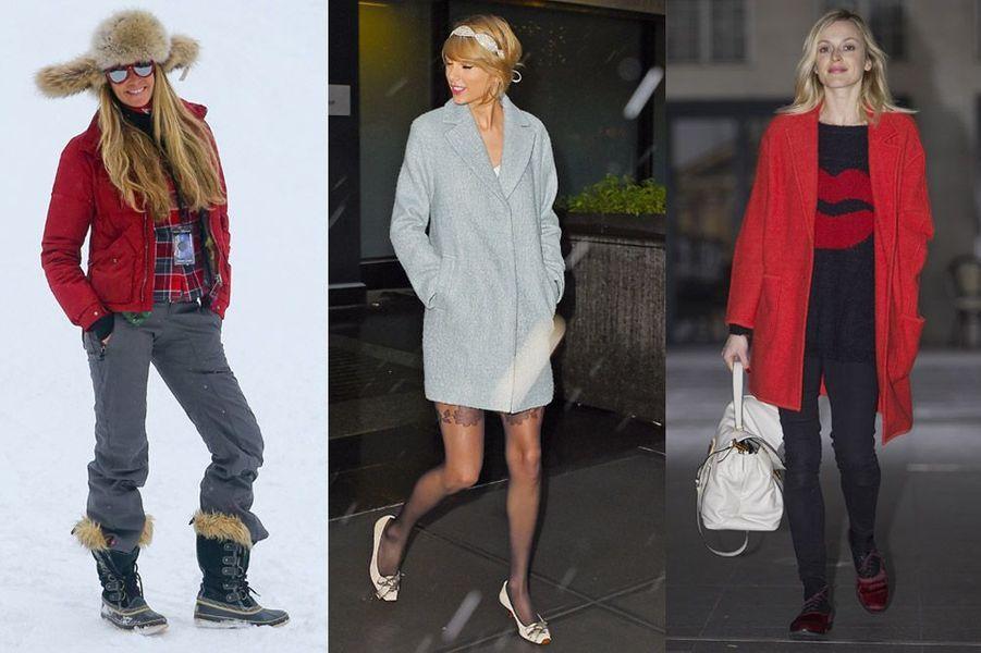 Elle Mcpherson, Taylor Swift, Fearne Cotton : les looks de stars en hiver pour les vacances de Noël