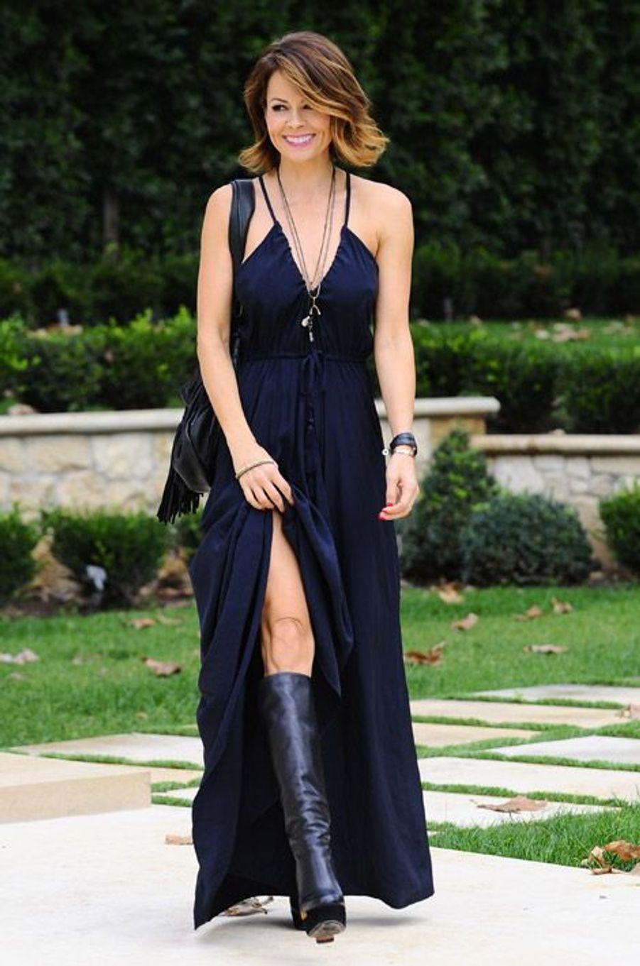 Le mannequin Brooke Burke-Charvet à Los Angeles, le 23 décémbre 2014