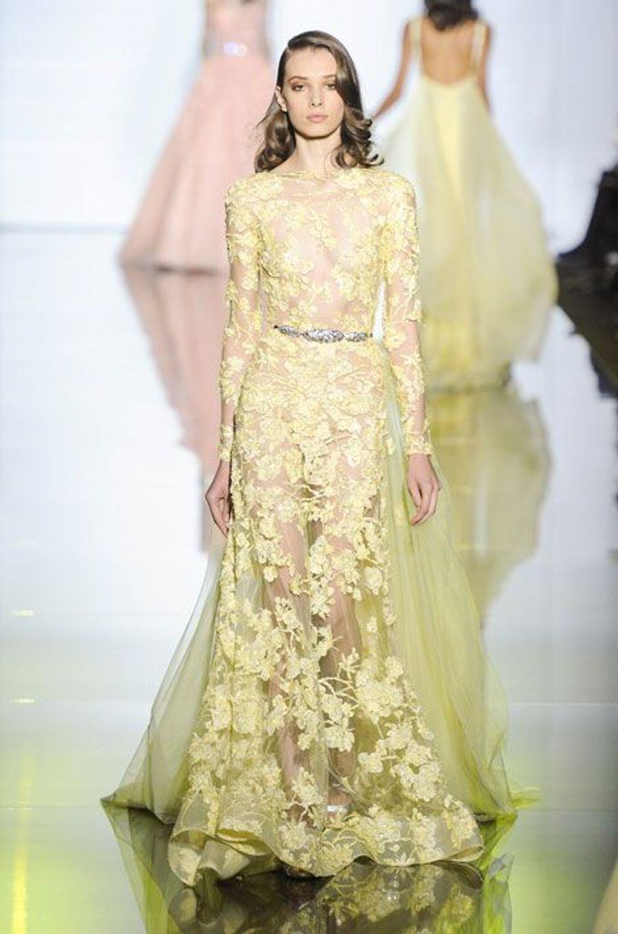 Défié Zuhair Murad Haute Couture printemps-été 2015, à Paris, le 29 janvier 2015