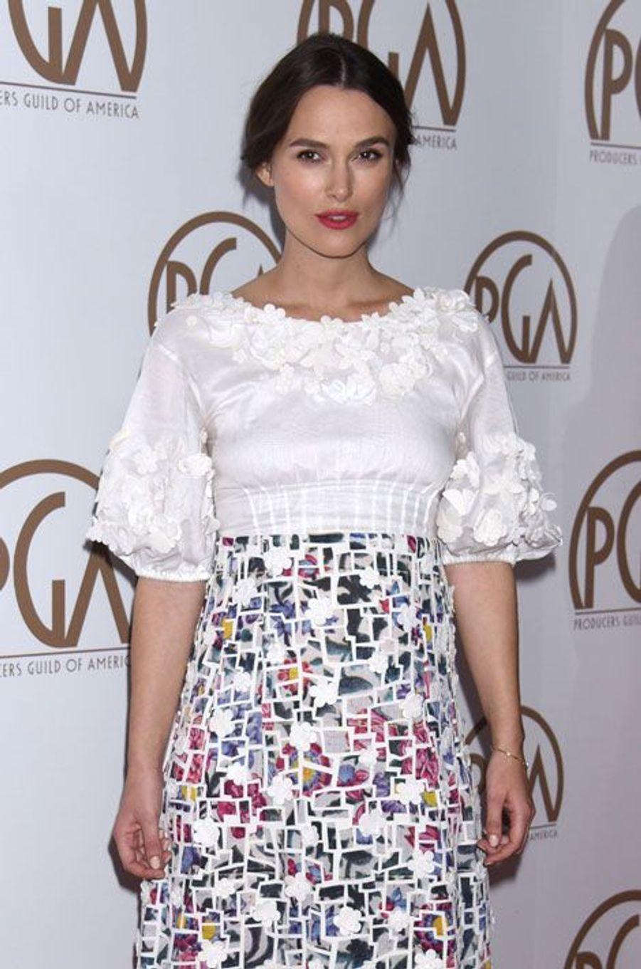 Keira Knightley lors de la cérémonie des Producers Guild Awards à Los Angeles, le 24 janvier 2015