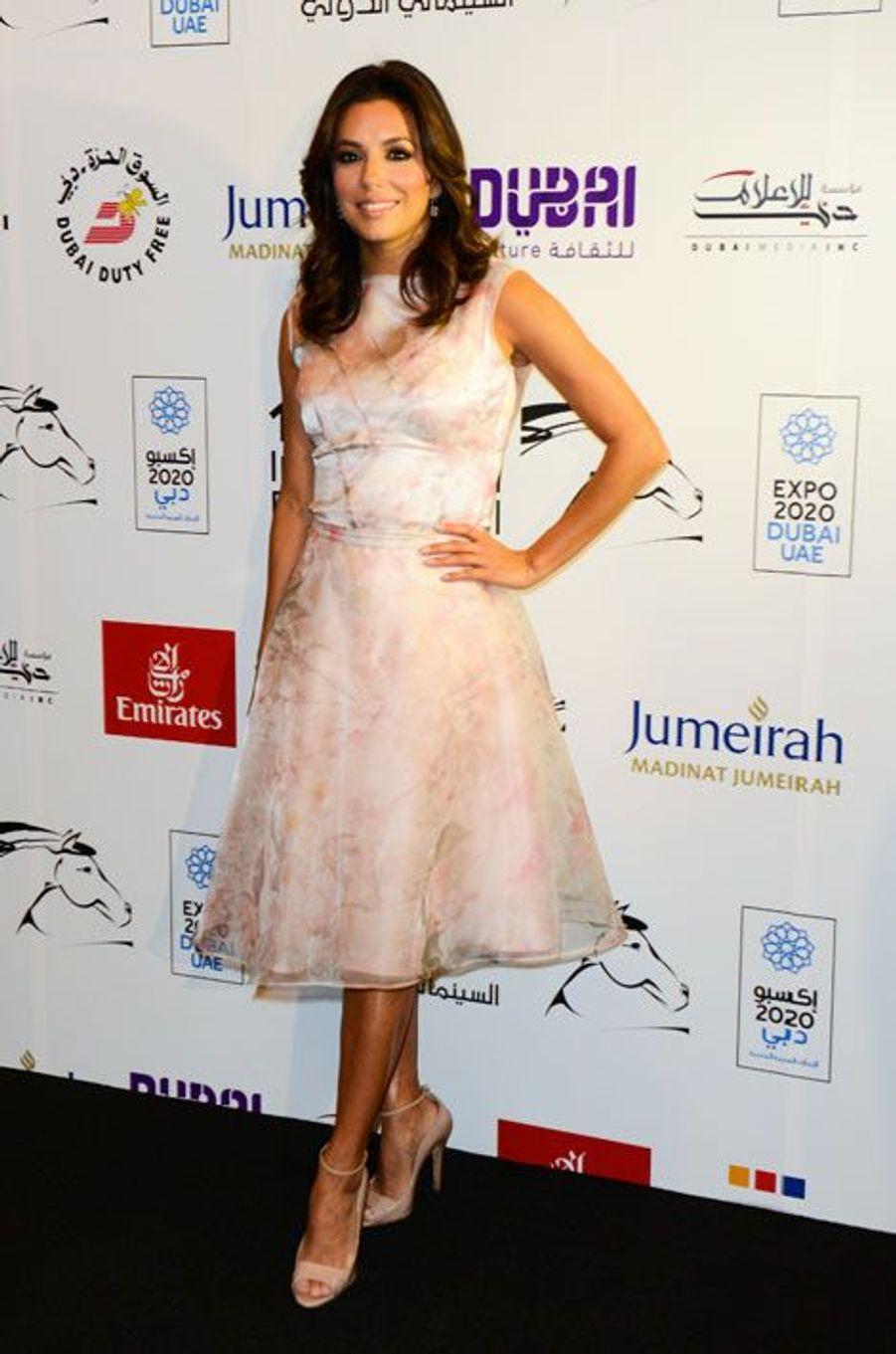 L'actrice Eva Longoria à Dubaï, le 14 décembre 2014