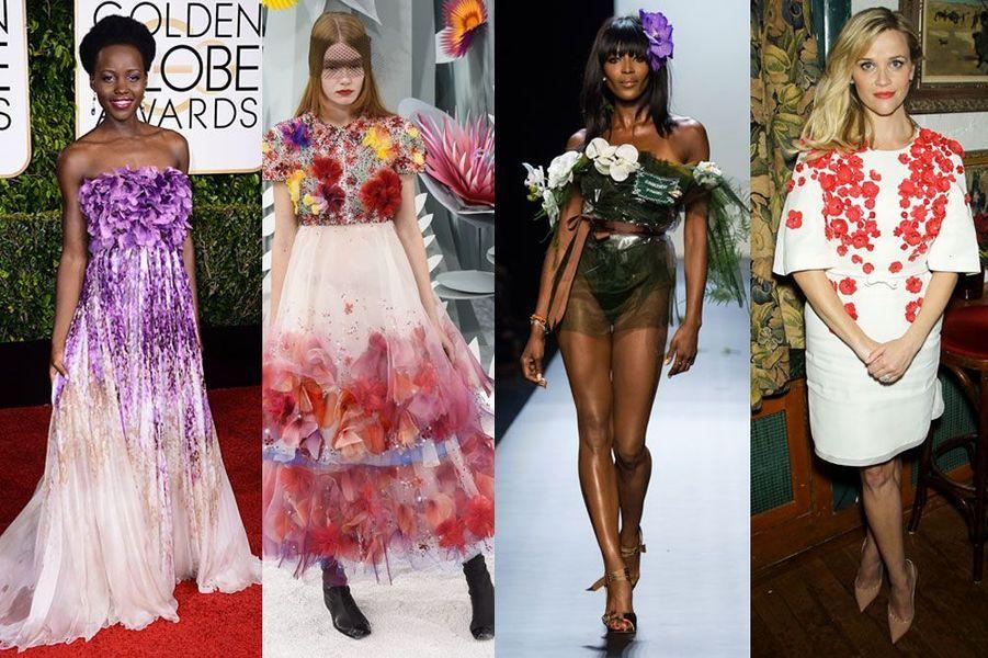 Tendance 2015 : Chanel, Jean Paul Gaultier, Zuhair Murad, Elie Saab, Dolce & Gabbana : la mode est aux fleurs