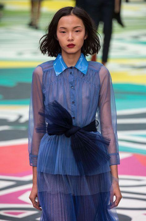 Défilé Burberry Prorsum lors de la Fashion Week de Londres, le 15 septembre 2014
