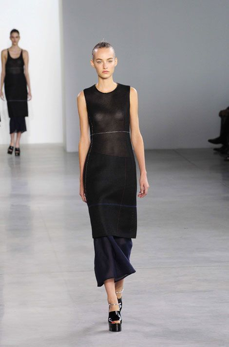 Défilé Calvin Klein lors de la Fashion Week de New York, le 11 septembre 2014