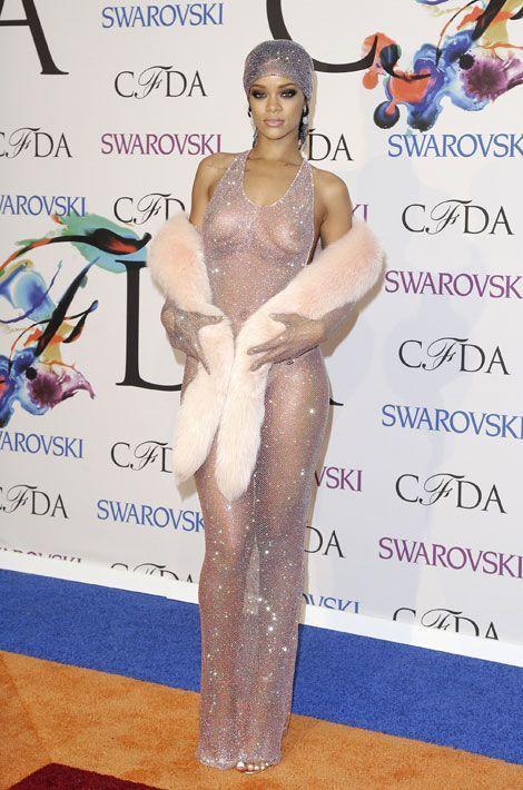 Rihanna lors de la soirée organisée par le CFDA à New York, le 2 juin 2014