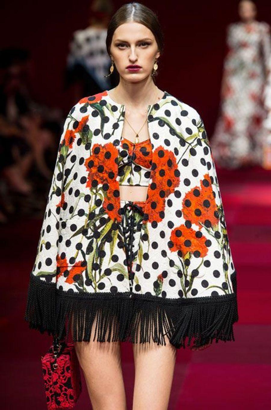 Défilé Dolce & Gabbana printemps-été 2015, à Milan, en septembre 2014