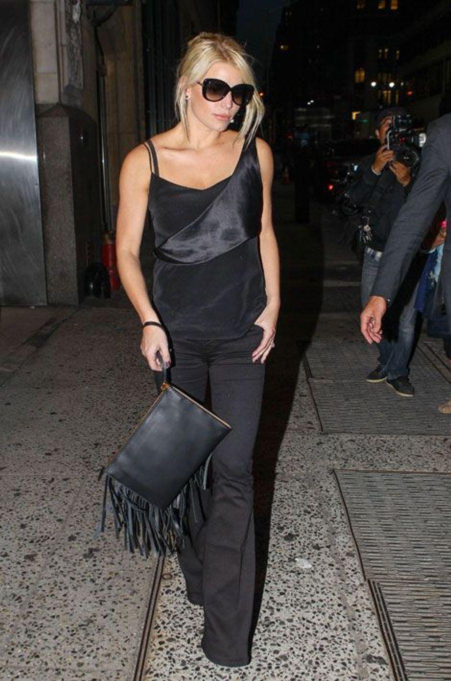 La chanteuse américaine Jessica Simpson, à New York, le 30 septembre 2014