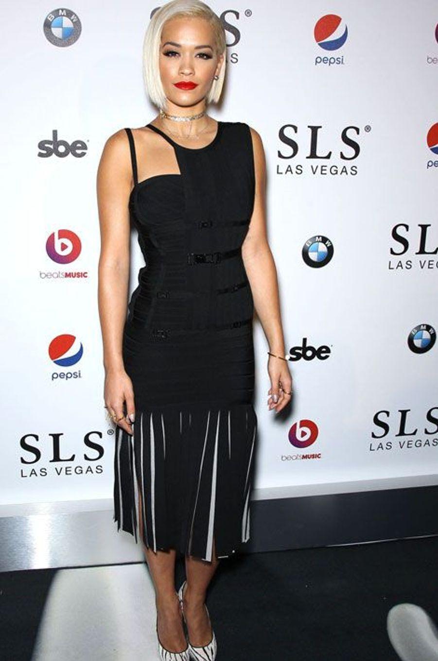 La chanteuse britannique Rita Ora penadant une soirée à Las Vegas, le 22 août 2014