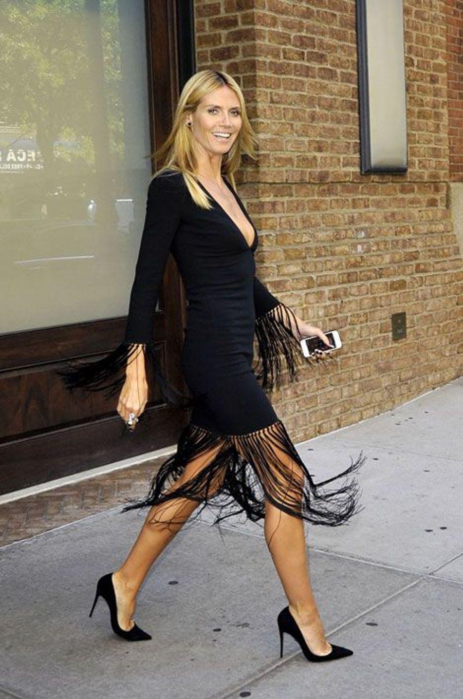 Le top-modèle Heidi Klum à New York, le 10 septembre 2014