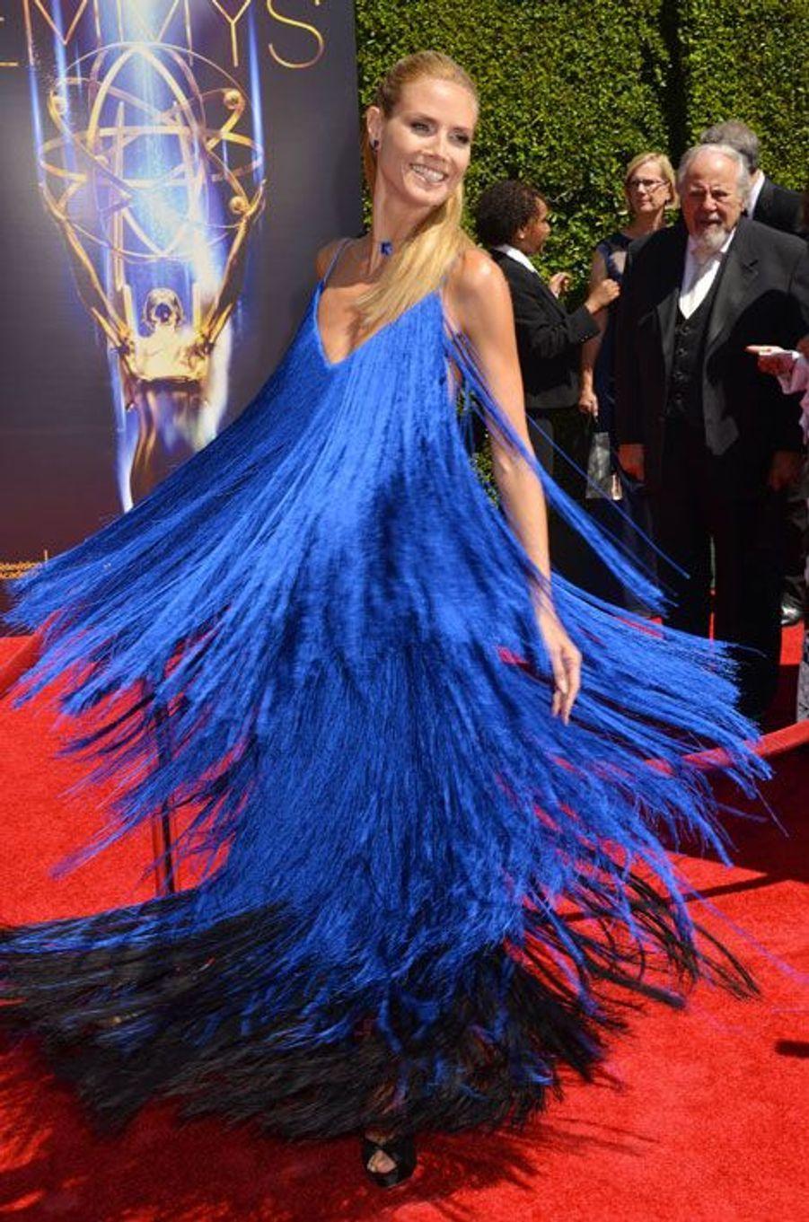 Le top-modèle Heidi Klum en Sean Kelly lors de la cérémonie des Creative Arts Emmy Awards