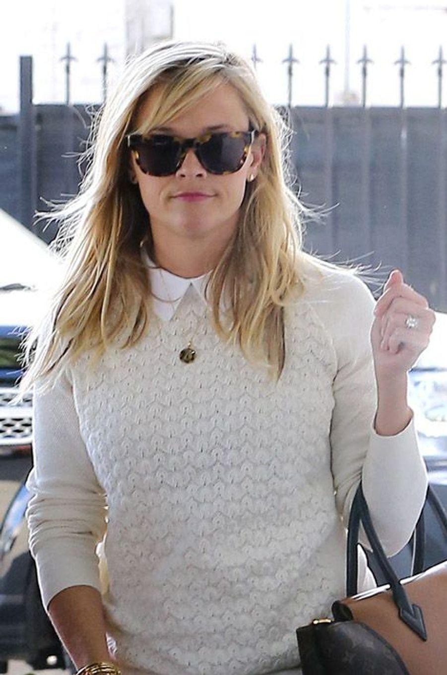 """L'actrice actullement à l'affiche de """"Wild"""", Reese Witherspoon, à Los Angeles le 7 janvier 2015"""
