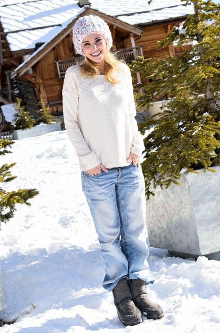 L'actrice Claire Keim participe au Festival du film comique de l'Alpe d'Huez, le 15 janvier 2015