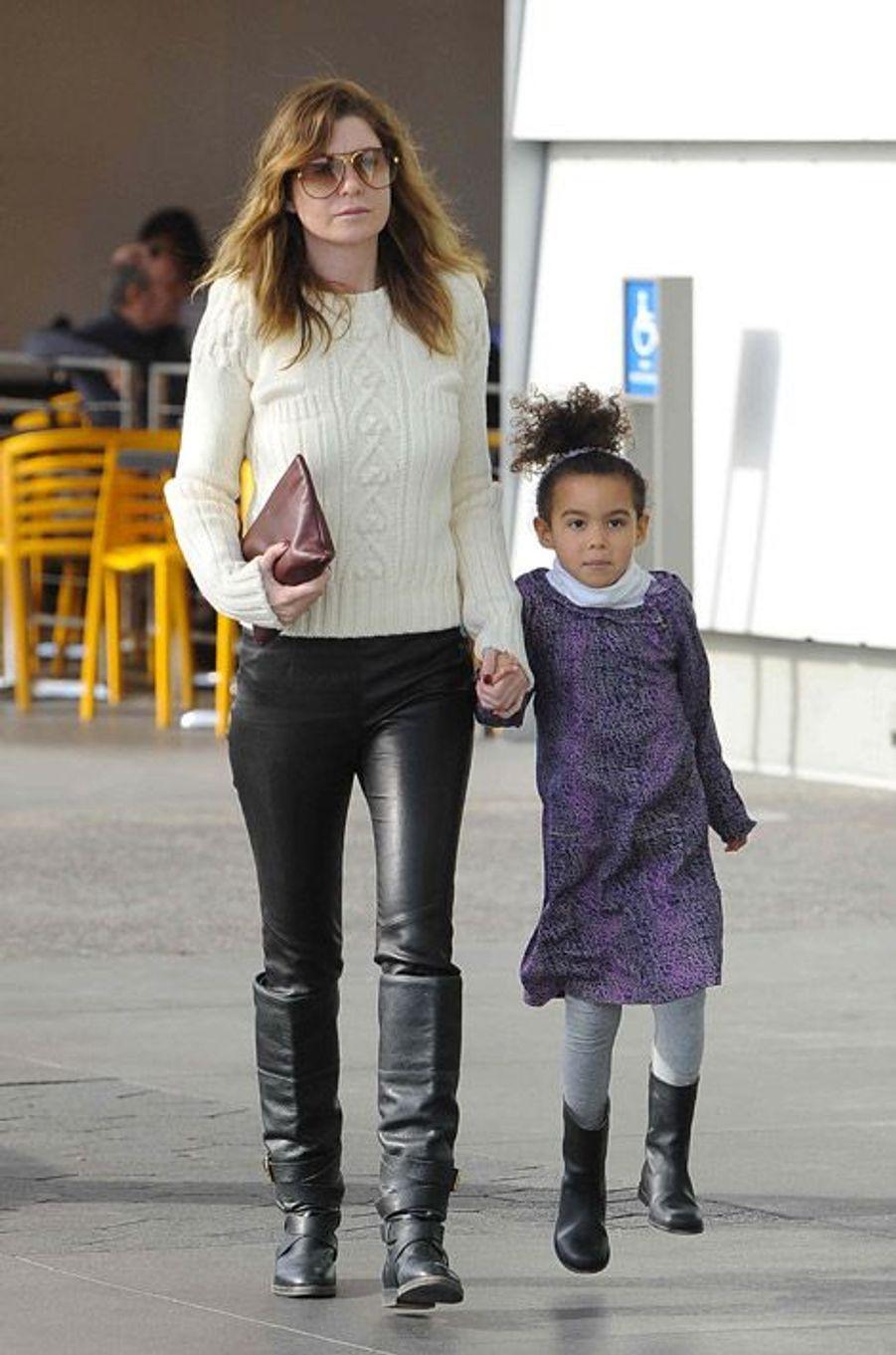 """L'actrice star de la série """"Grey's Anatomy"""", à Los Angeles, le 4 janvier 2015"""