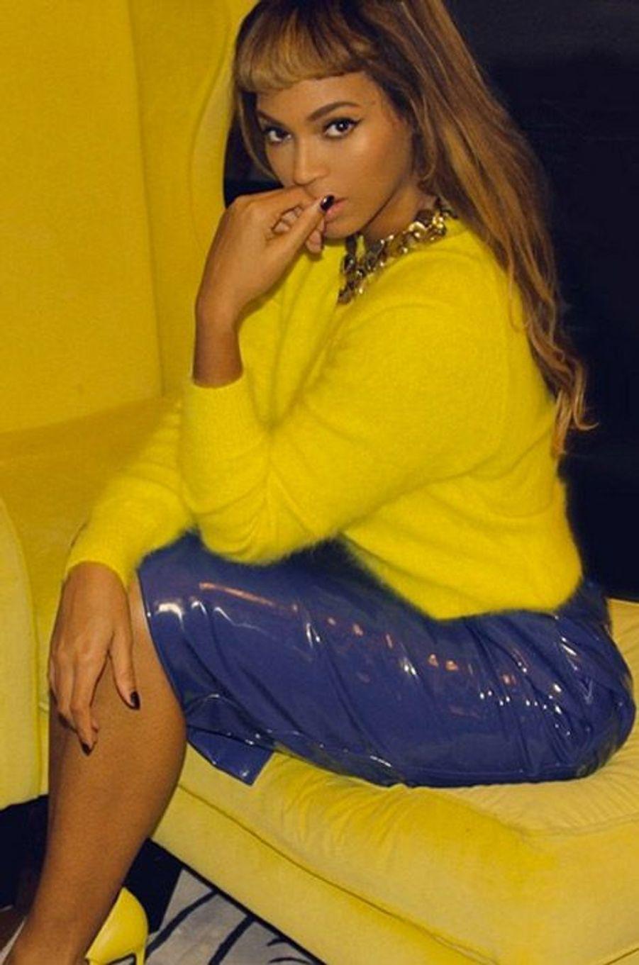 La chanteuse Beyoncé en octobre 2014