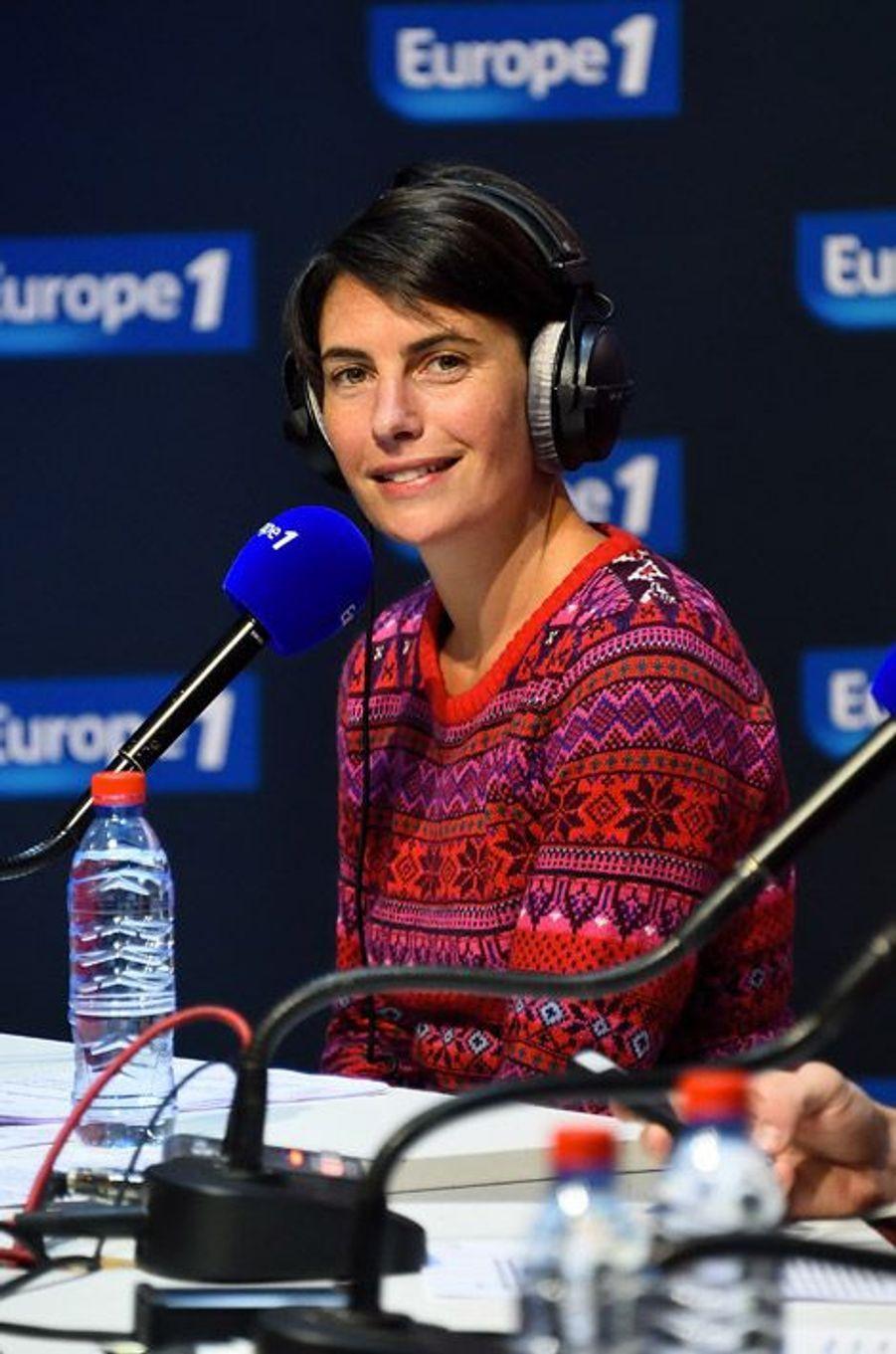 La journaliste Alessandra Sublet sur Europe 1, le 17 janvier 2015