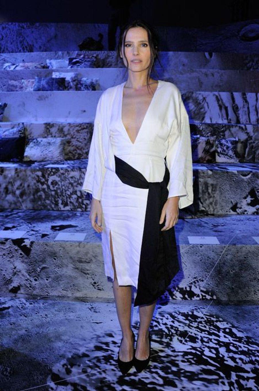 L'actrice Viriginie Ledoyen lors du défilé H&M à Paris, le 4 mars 2015