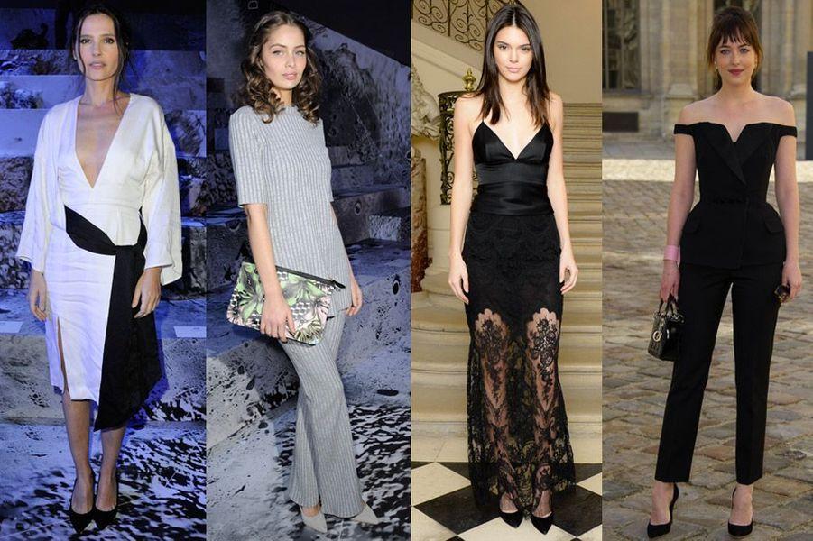 Virginie Ledoyen, Marie-Ange Casta, Kendall Jenner, Dakota Johnson : Françaises vs Américaines, les plus beaux looks de la semaine pendant la Fash...