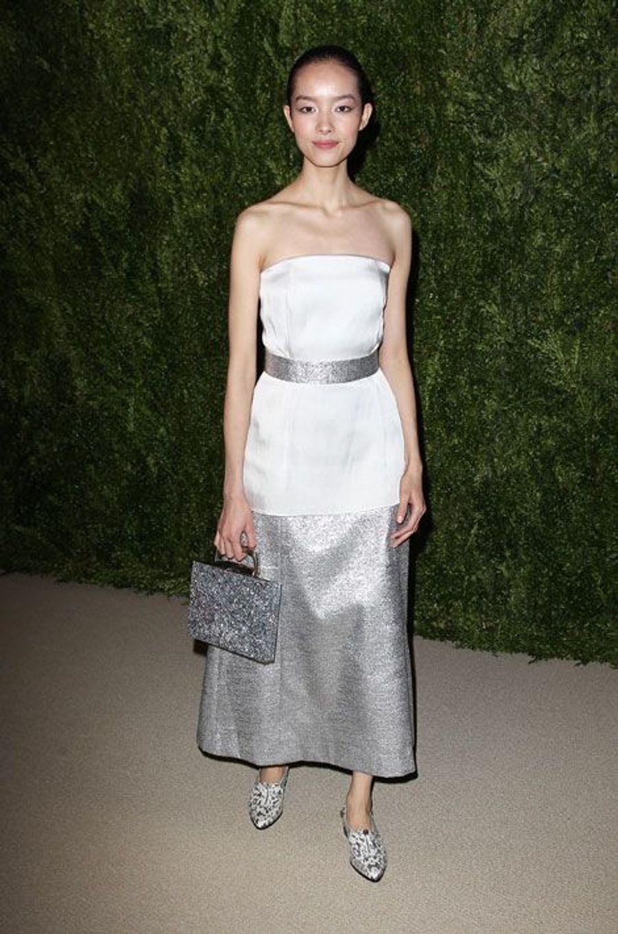 La belle chinoise qui a récemment fait la Une de «Elle», en France, a défilé pour les plus grands cette année: Hermès, Valentino, Chanel, Jean-Paul Gaultier…. Elle est également devenue l'égérie des cosmétiques Calvin Klein.