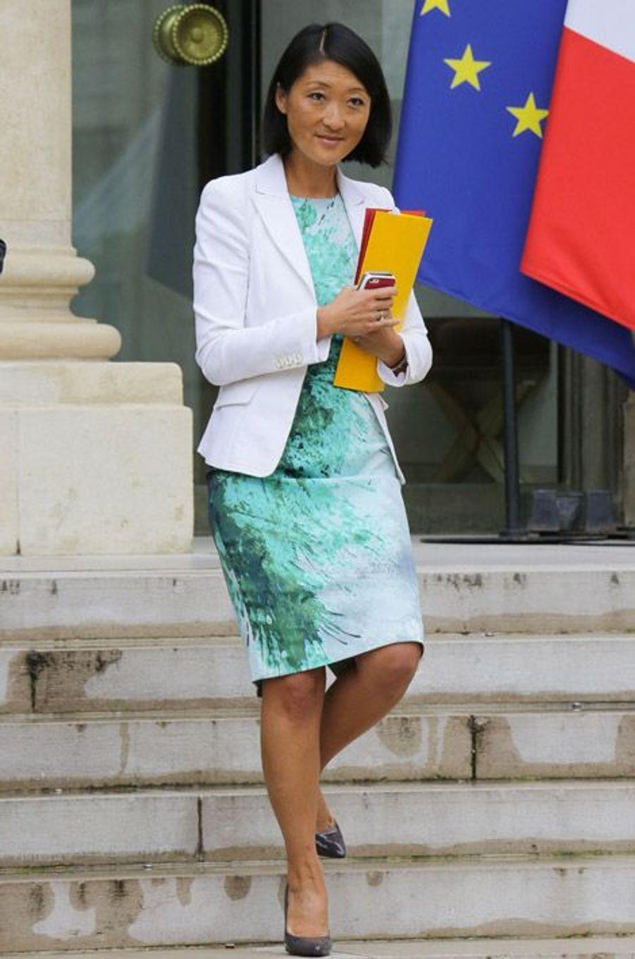 Fleur Pellerin, nouvelle ministre de la Culture, lors du premier conseil des ministres du gouvernement Valls 2 à Paris, le 27 août 2014
