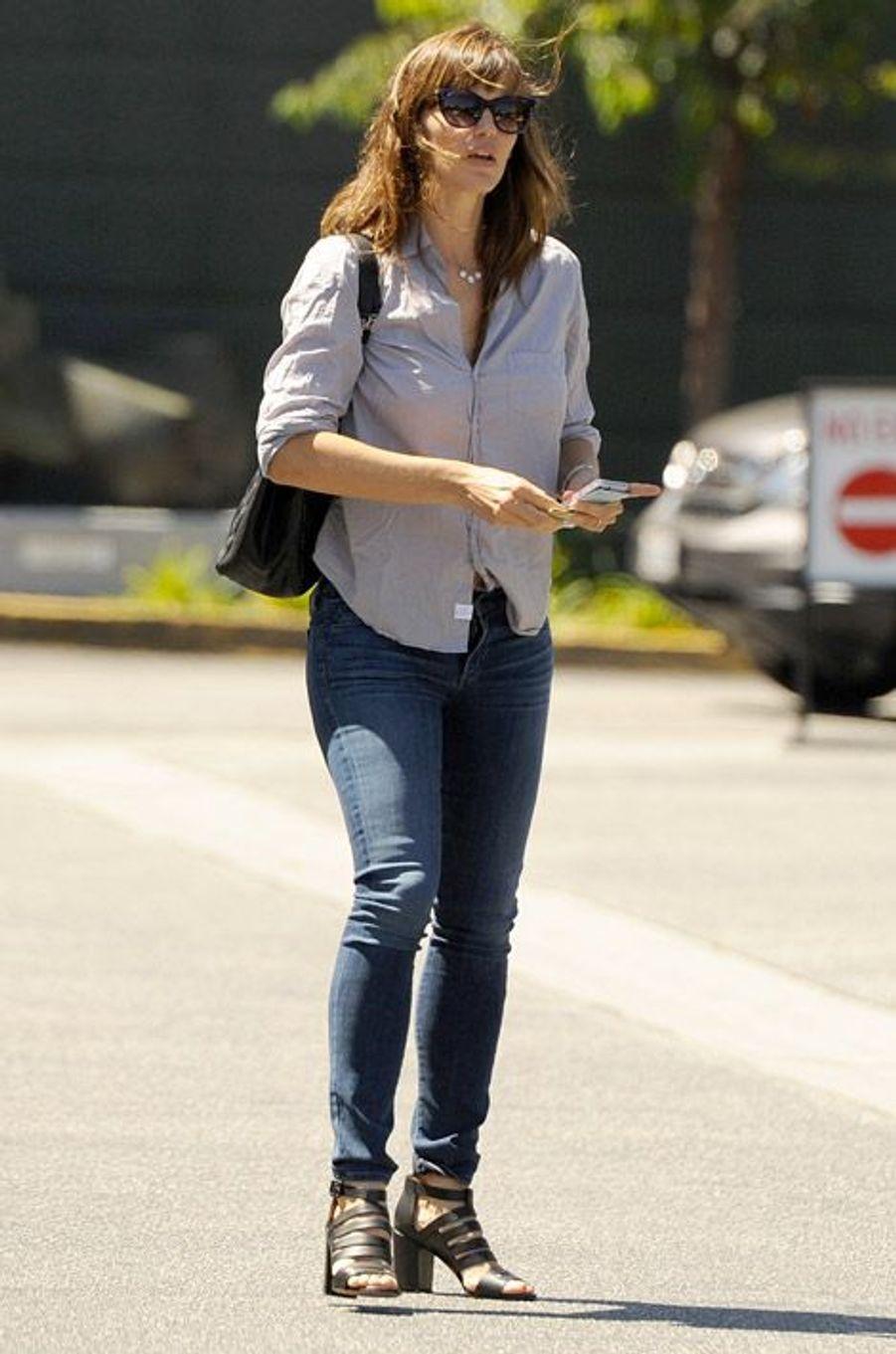 L'actrice Jennifer Garner et femme de Ben Affleck sort d'un rendez-vous à Brentwood, en Californie, le 29 août 2014