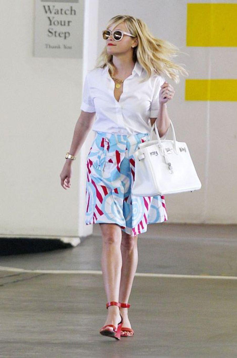 L'actrice Reese Witherspoon arrive à son bureau de Beverly Hills, le 21 août 2014