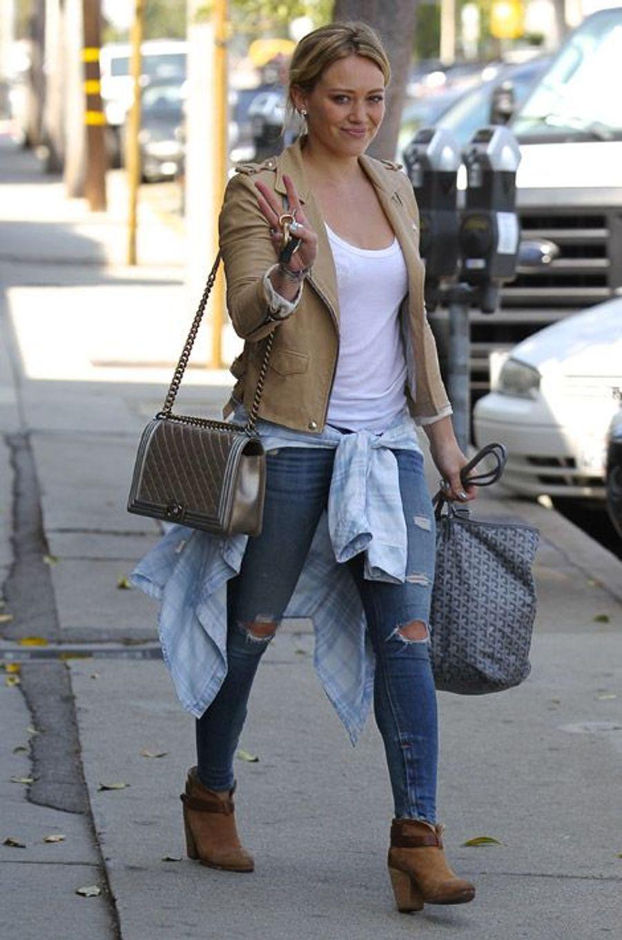 La chanteuse Hilary Duff le 22 août 2014, à Beverly Hills