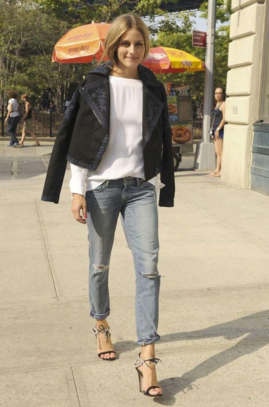 La it-girl Olivia Palermo à New York, le 24 août 2014