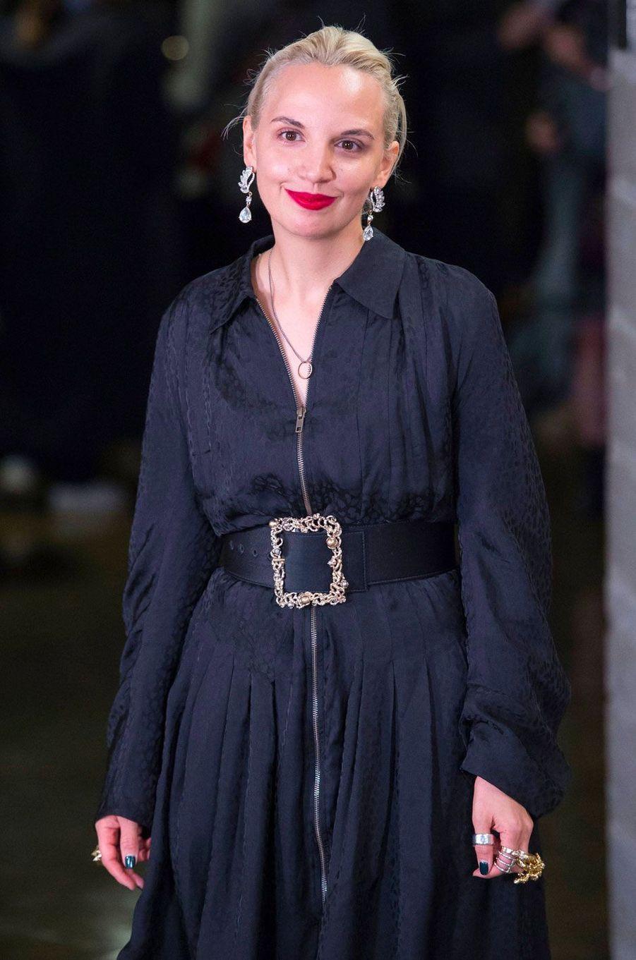 Christelle Kocher après le défilé Koché printemps-été 2019